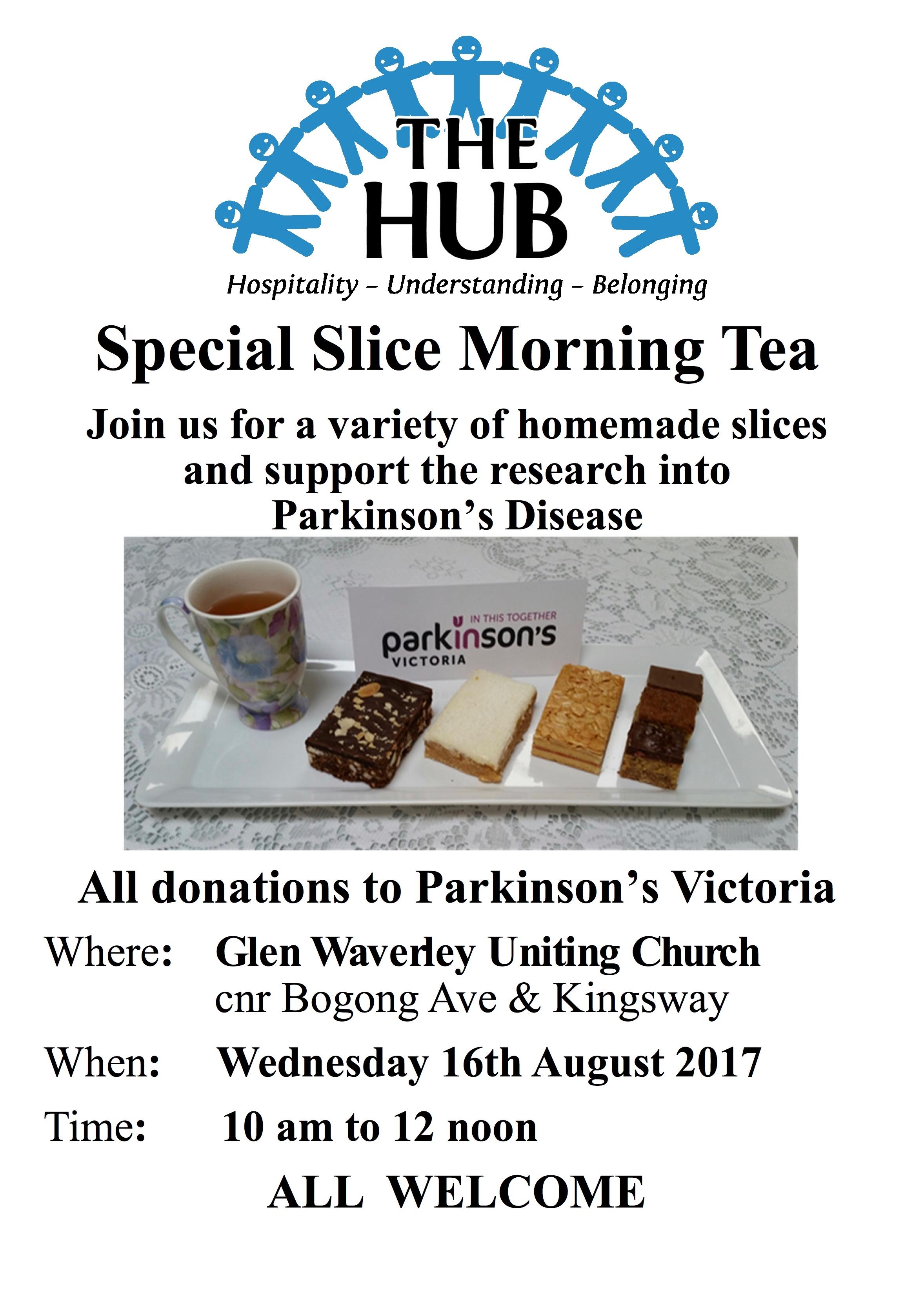 special slicemorning tea small flyer glen waverley uniting church
